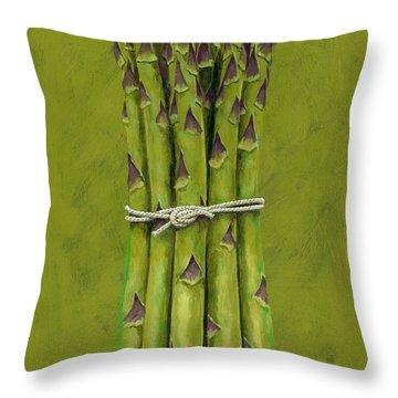 Asparagus Throw Pillow by Brian James