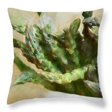 Asparagus Throw Pillow by HD Connelly