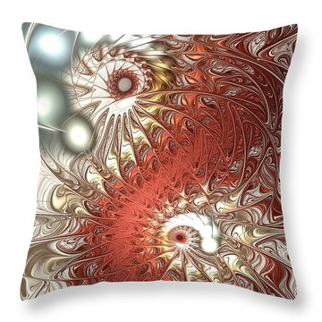 Assimilation Throw Pillow by Anastasiya Malakhova