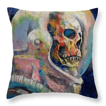 Astronaut Throw Pillow by Michael Creese