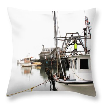 At Dock Throw Pillow by Karol Livote
