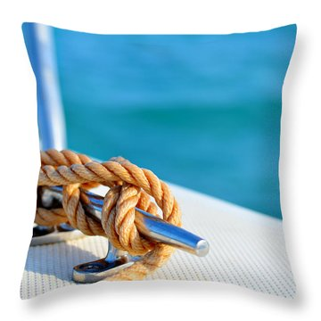 At Sea Throw Pillow by Laura Fasulo