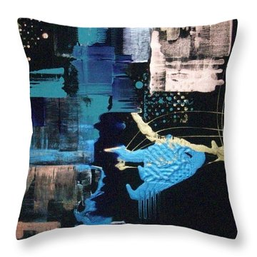 At The Edge Of Beyond Throw Pillow by Charlotte Nunn