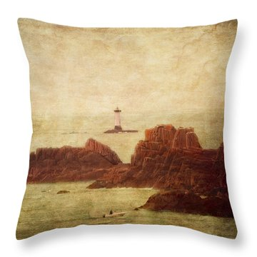 At The Entrance Of The Mont Saint-michel Bay Throw Pillow by Loriental Photography