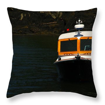 At The Ready Throw Pillow by Karol Livote
