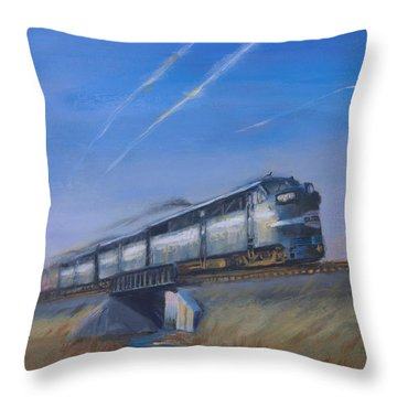 At Track Speed Throw Pillow by Christopher Jenkins