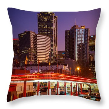 Atlanta Drive-in Throw Pillow by Inge Johnsson