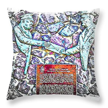 Atlantic Charter Monument Throw Pillow by Barbara Griffin