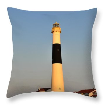 Atlantic City - Absecon Lighthouse Throw Pillow by Bill Cannon