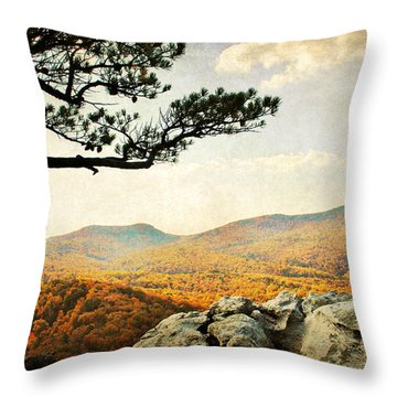 Atop The Rock Throw Pillow by Kelly Nowak