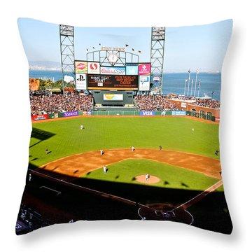 Att Park San Francisco  Throw Pillow by John McGraw