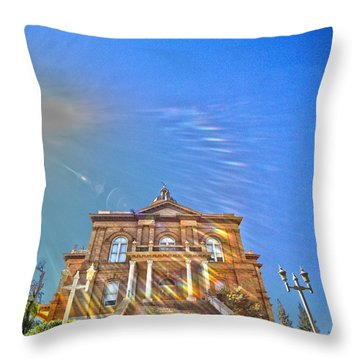Auburn Courthouse 2 Throw Pillow by Cheryl Young