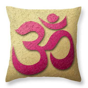 Aum Or Om Symbol Throw Pillow by Cristina-Velina Ion