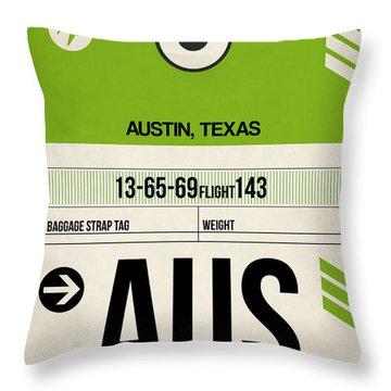 Austin Airport Poster 1 Throw Pillow by Naxart Studio