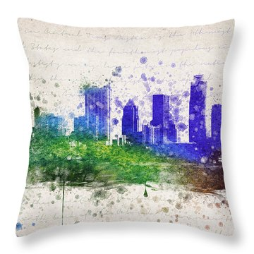 Austin In Color Throw Pillow by Aged Pixel