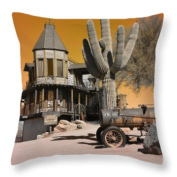Authentic Ghost Town Throw Pillow by Beverly Guilliams