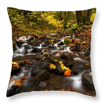 Autumn Breeze Throw Pillow by Mike  Dawson