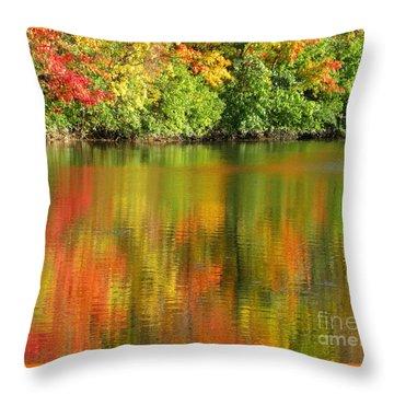Autumn Brilliance Throw Pillow by Ann Horn