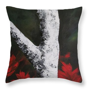 Autumn Dance Throw Pillow by Beverly Livingstone