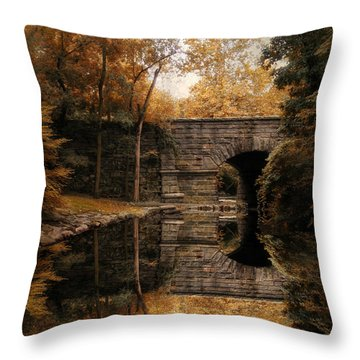 Autumn Echo Throw Pillow by Jessica Jenney