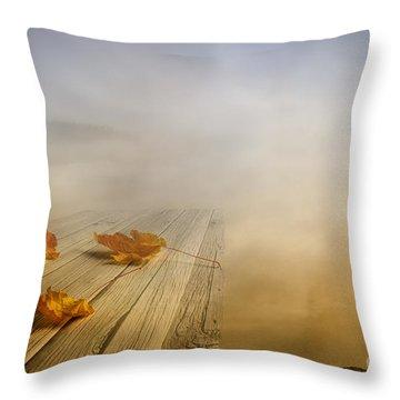 Autumn Fog Throw Pillow by Veikko Suikkanen