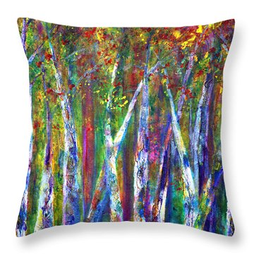 Autumn In Muskoka Throw Pillow by Claire Bull