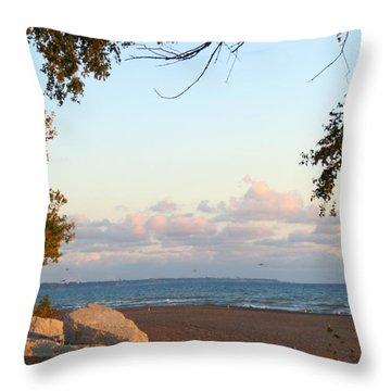 Autumn Lakeside Throw Pillow by Kay Novy