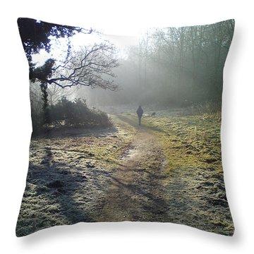 Autumn Morning  Throw Pillow by David Stribbling