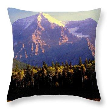 Autumn On The Mount Throw Pillow by Karen Wiles