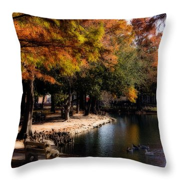 Autumn On Theta Throw Pillow by Lana Trussell