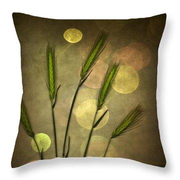 Autumn Party Throw Pillow by Jan Bickerton
