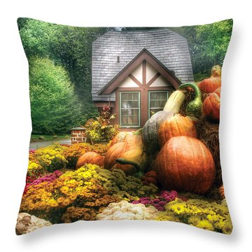Autumn - Pumpkin - This Years Harvest Was Awesome  Throw Pillow by Mike Savad
