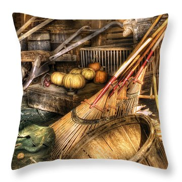 Autumn - This Years Harvest Throw Pillow by Mike Savad