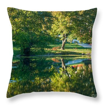 Autumns Beauty Throw Pillow by Optical Playground By MP Ray