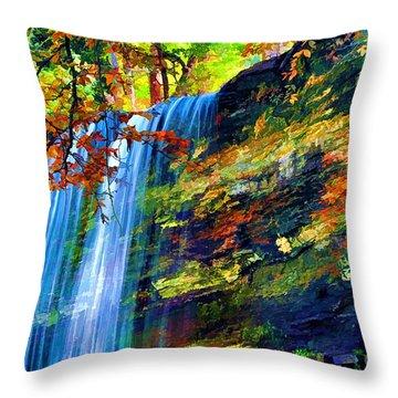Autumns Calm Throw Pillow by Darren Fisher