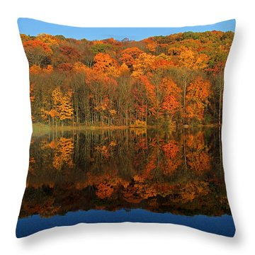 Autumns Colorful Reflection Throw Pillow by Karol Livote