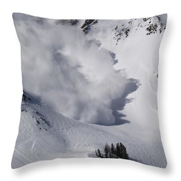 Avalanche Iv Throw Pillow by Bill Gallagher