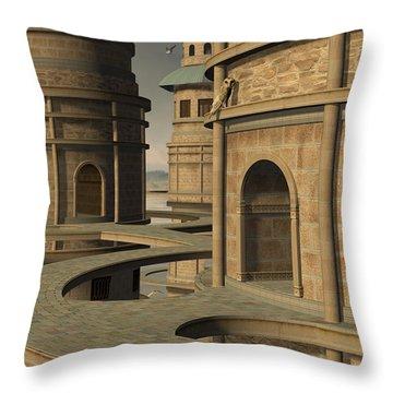 Aviary Throw Pillow by Cynthia Decker