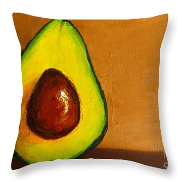 Avocado Palta Vi Throw Pillow by Patricia Awapara