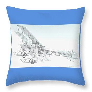 Avro Triplane Throw Pillow by Rick Bennett