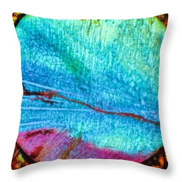 Azure Sunset Throw Pillow by Tom Phillips