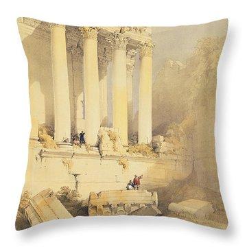 Baalbec Throw Pillow by David Roberts