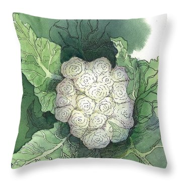 Baby Cauliflower Throw Pillow by Maria Hunt