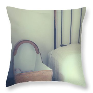 Baby Crib Throw Pillow by Joana Kruse