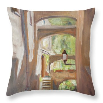 Back Alley Throw Pillow by Marco Busoni