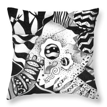 Back And Forth Throw Pillow by Helena Tiainen