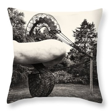 Back In Time At Grounds Of Sculpture Throw Pillow by Eduard Moldoveanu