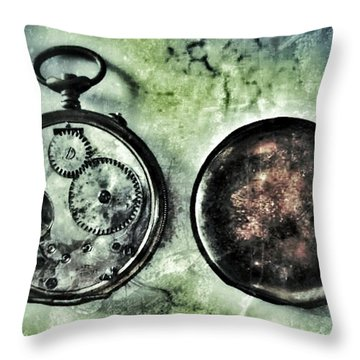Back In Time Throw Pillow by Marianna Mills