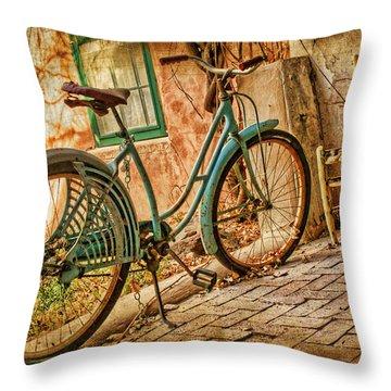Back Patio Throw Pillow by Nikolyn McDonald