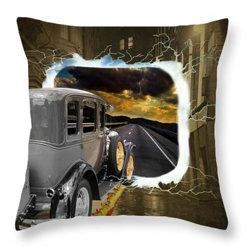 Back To The Future Throw Pillow by Davandra Cribbie